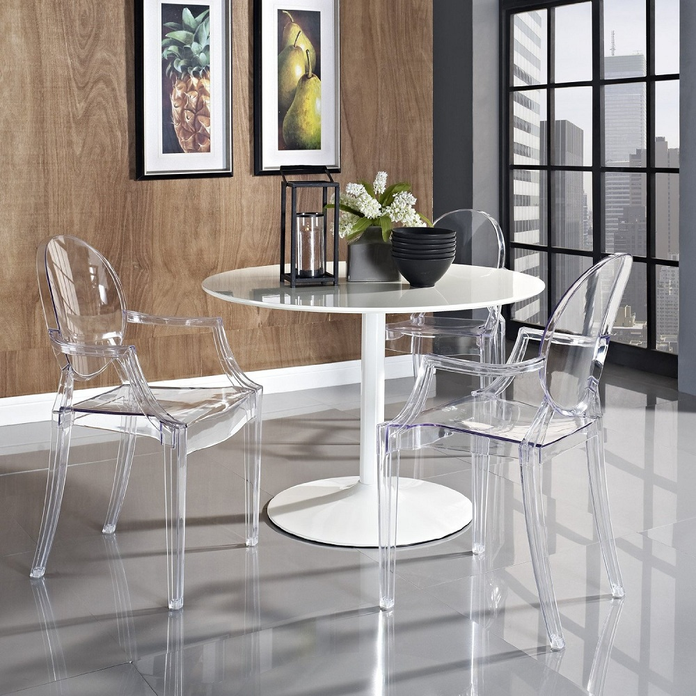 Image of: Wonderful Lucite Dining Chairs