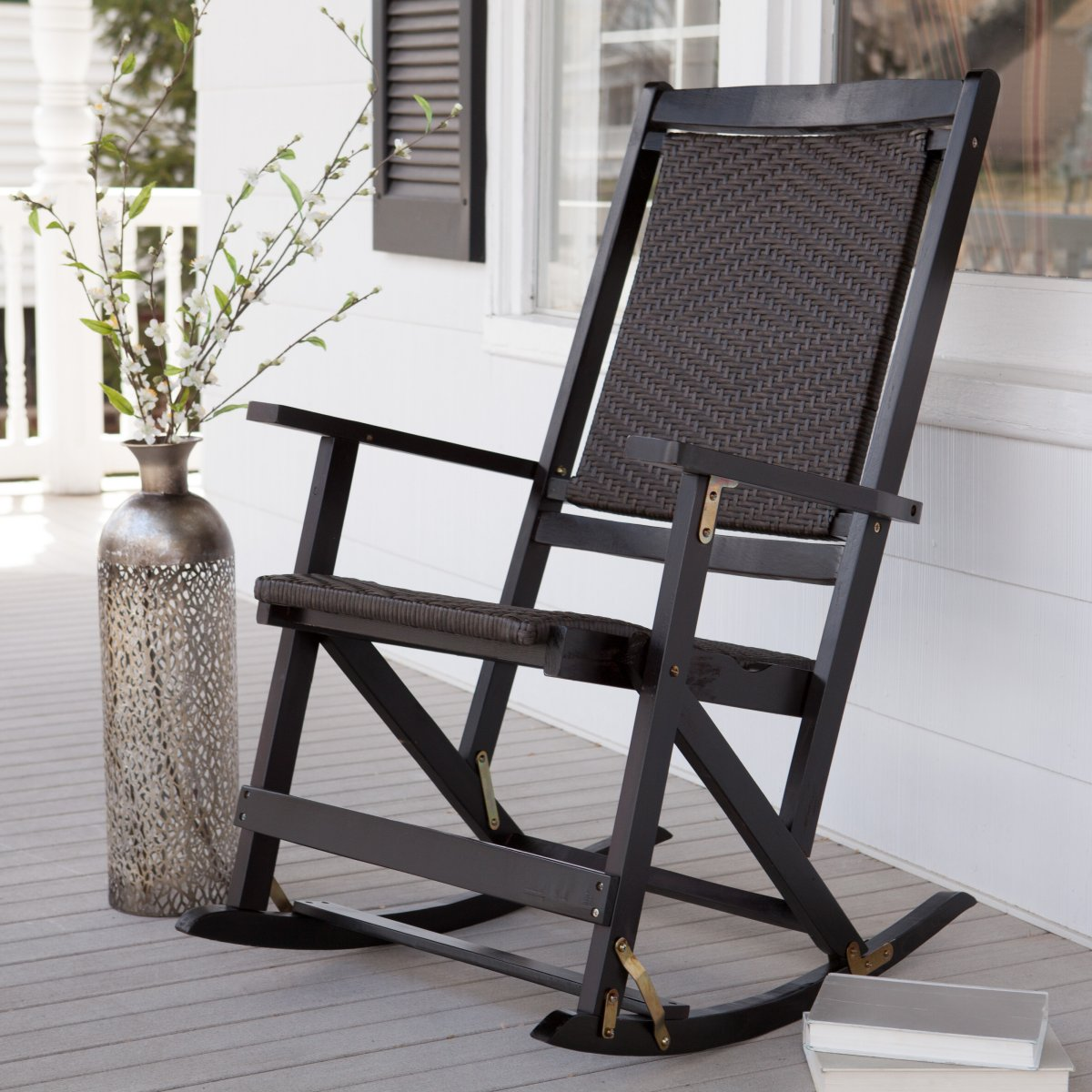 Image of: Wood Patio Rocking Chair