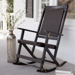 Wood Patio Rocking Chair
