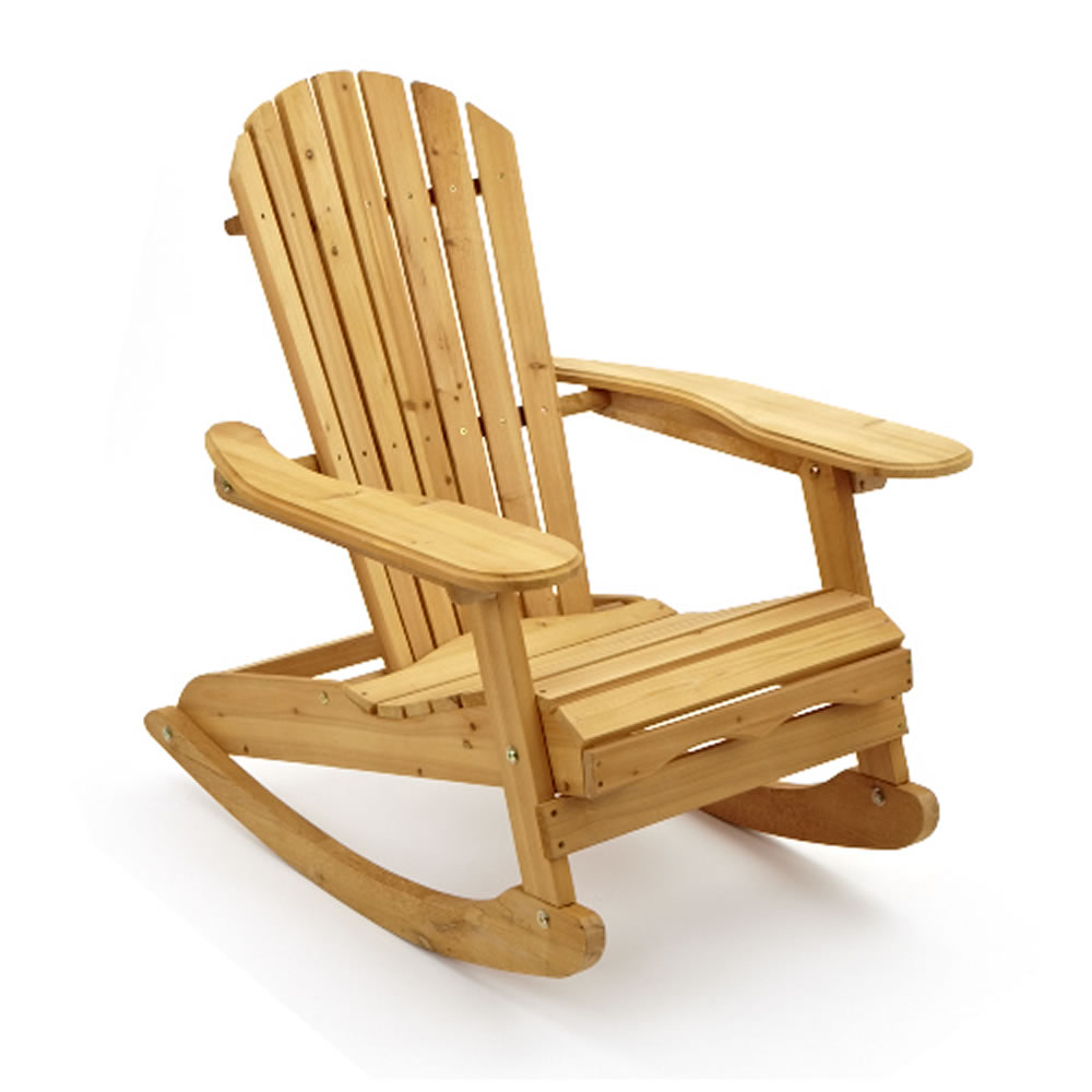 Wooden Adirondack Rocking Chair