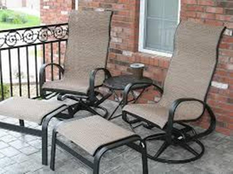 Image of: Wrought Iron Patio Chairs Free Shipping