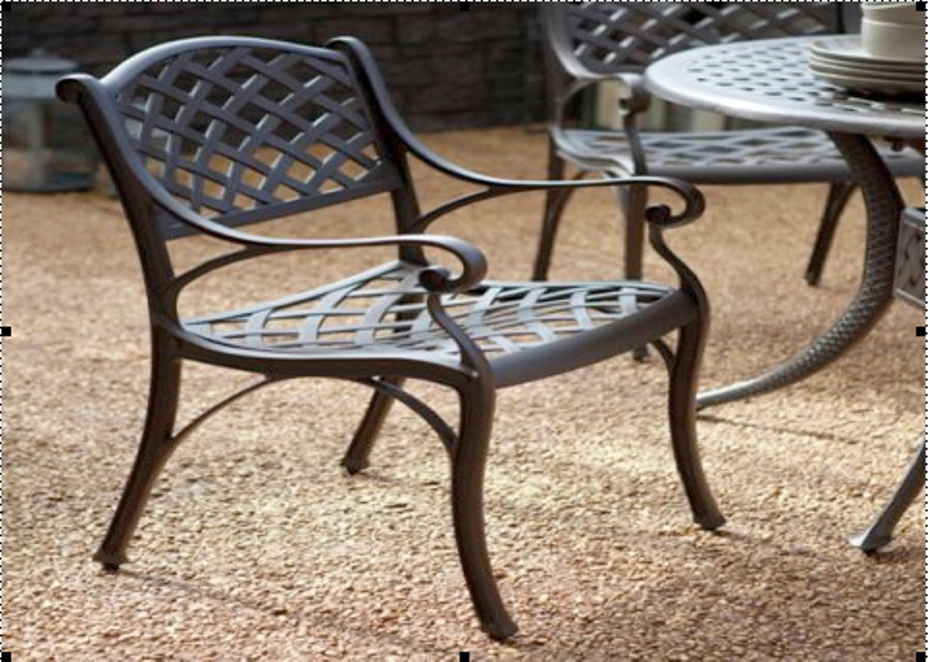 Image of: Wrought Iron Patio Chairs That Rock