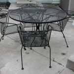 Wrought Iron Patio Chairs Vinyl End Caps