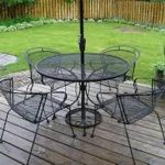 Wrought Iron Patio Chairs with Dogwood Design