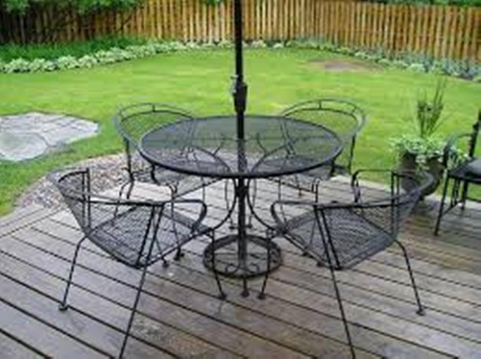 Image of: Wrought Iron Patio Chairs with Dogwood Design