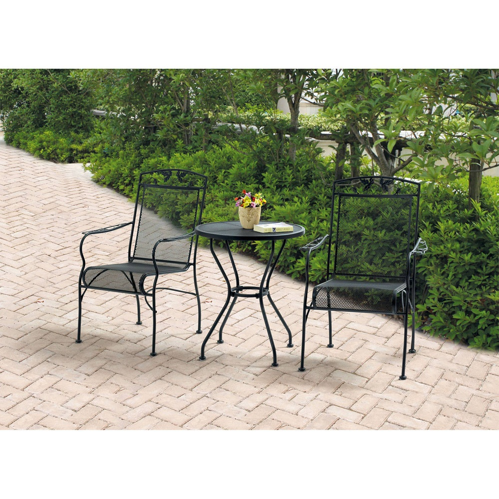 Image of: Wrought Iron Patio Dining Set Color