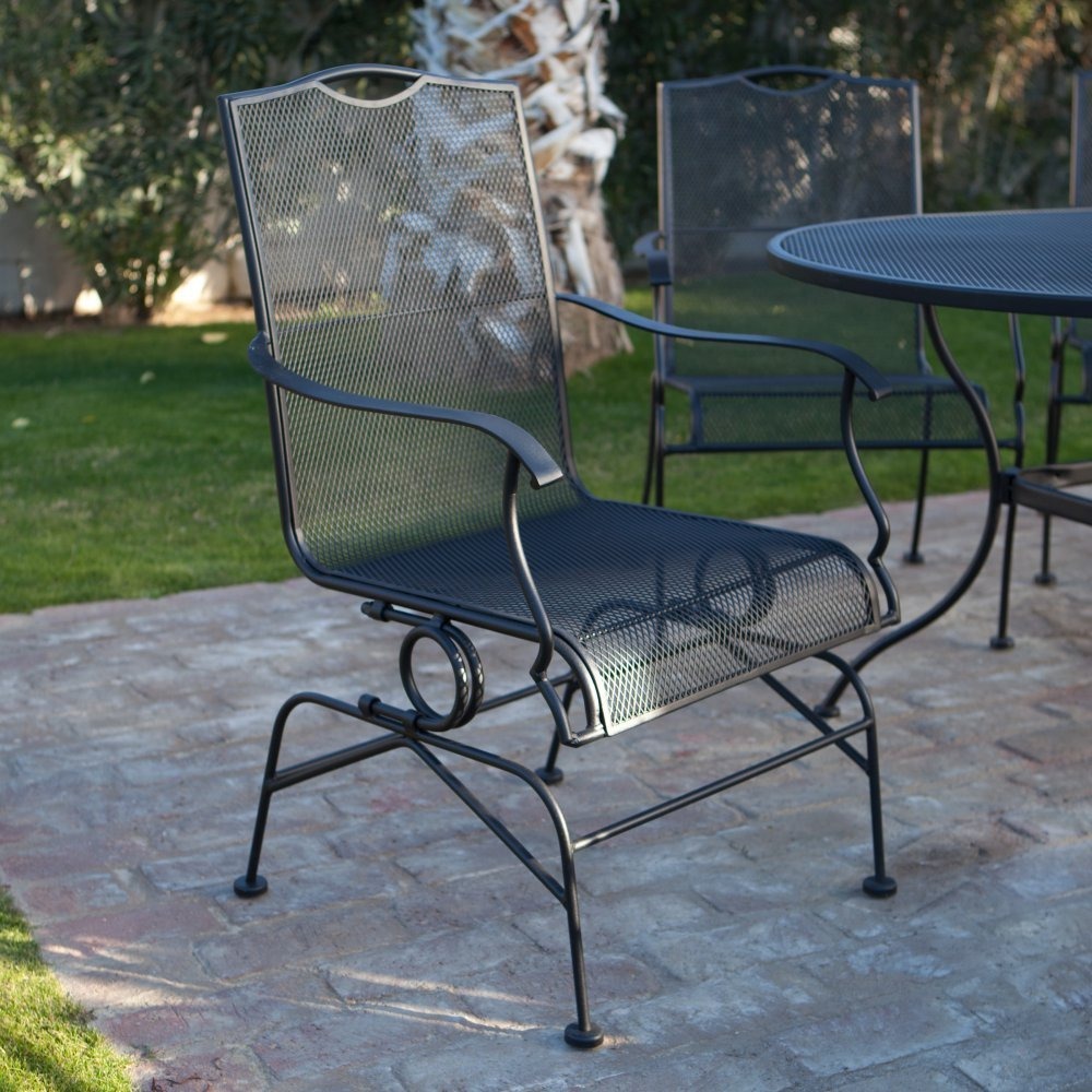 Image of: Wrought Iron Patio Furniture Sets Chairs