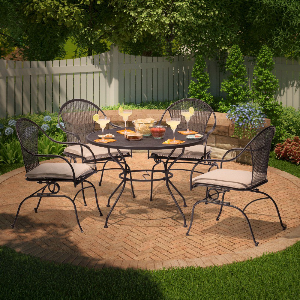 Image of: Wrought Iron Patio Furniture Sets Dining