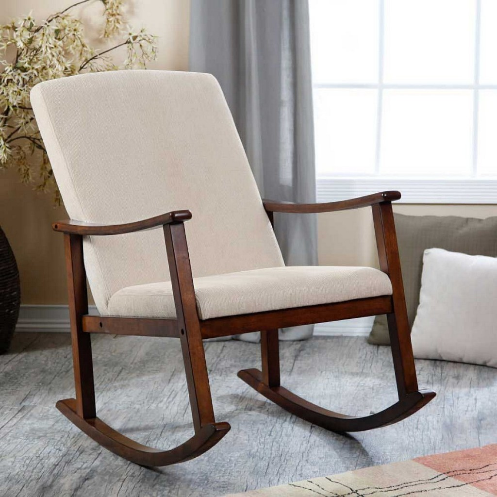 Image of: contemporary Upholstered Rocking Chairs