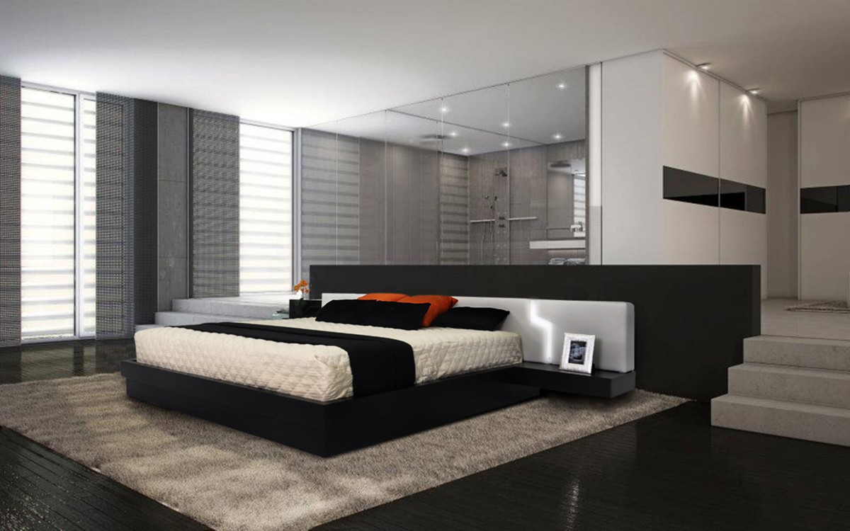 Image of: tourino modern platform bed