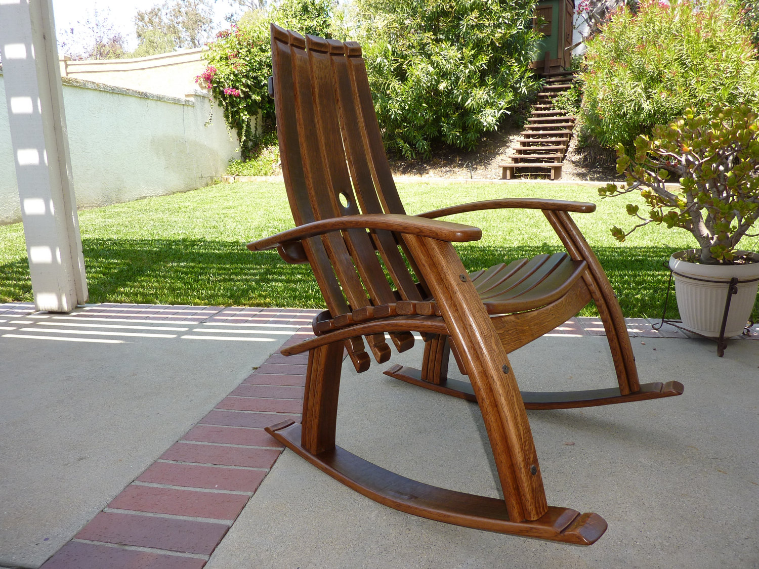 Image of: adirondack rocking chair wood