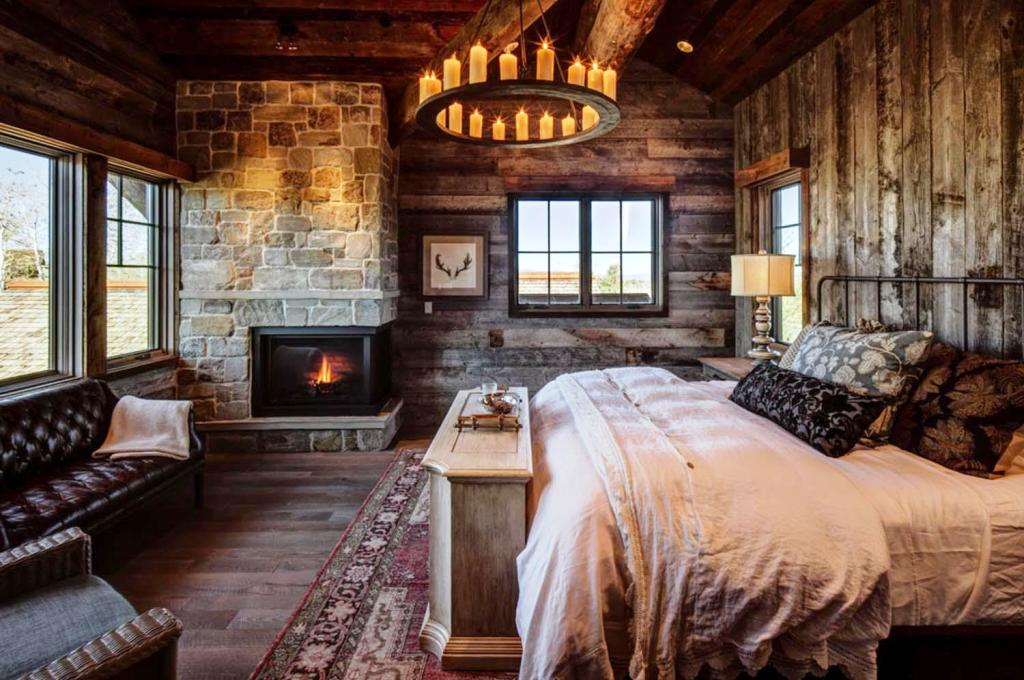 Image of: Adorable Rustic Cabin Bedrooms