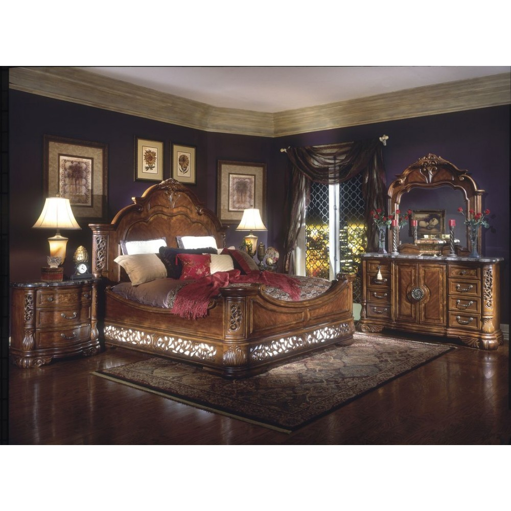 Image of: Aico Bedroom Set Furniture