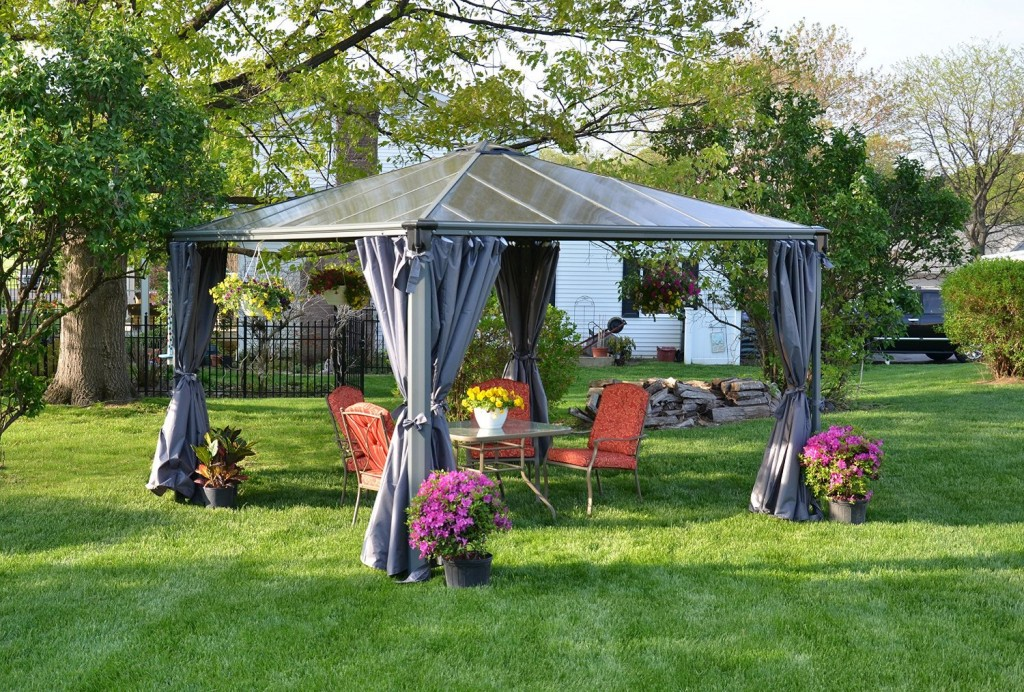 Image of: All Aluminum Gazebo