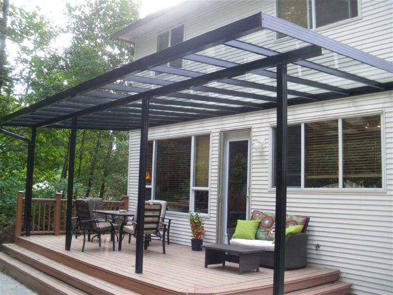 Image of: Aluminium Awnings for Decks