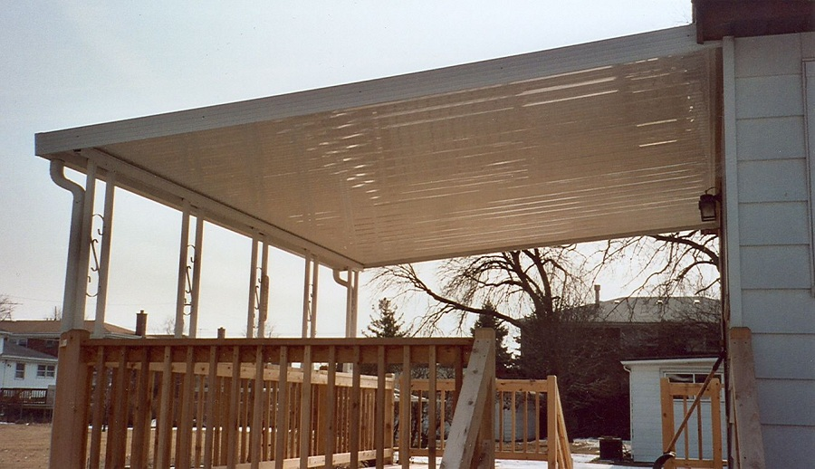 Image of: Aluminum Awnings for Decks Plans