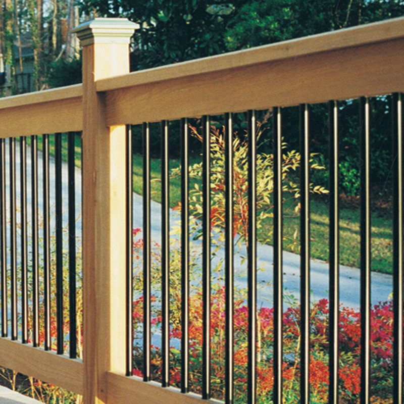 Image of: Aluminum Deck Balusters Square