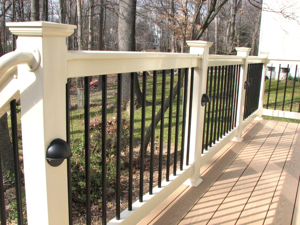 Image of: Aluminum Deck Railing Attachment