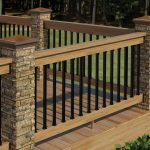Aluminum Deck Railing Brown