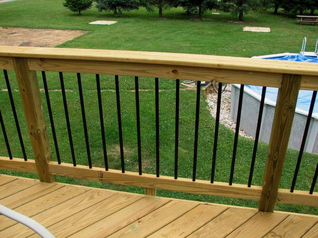Image of: Aluminum Deck Railing Colours