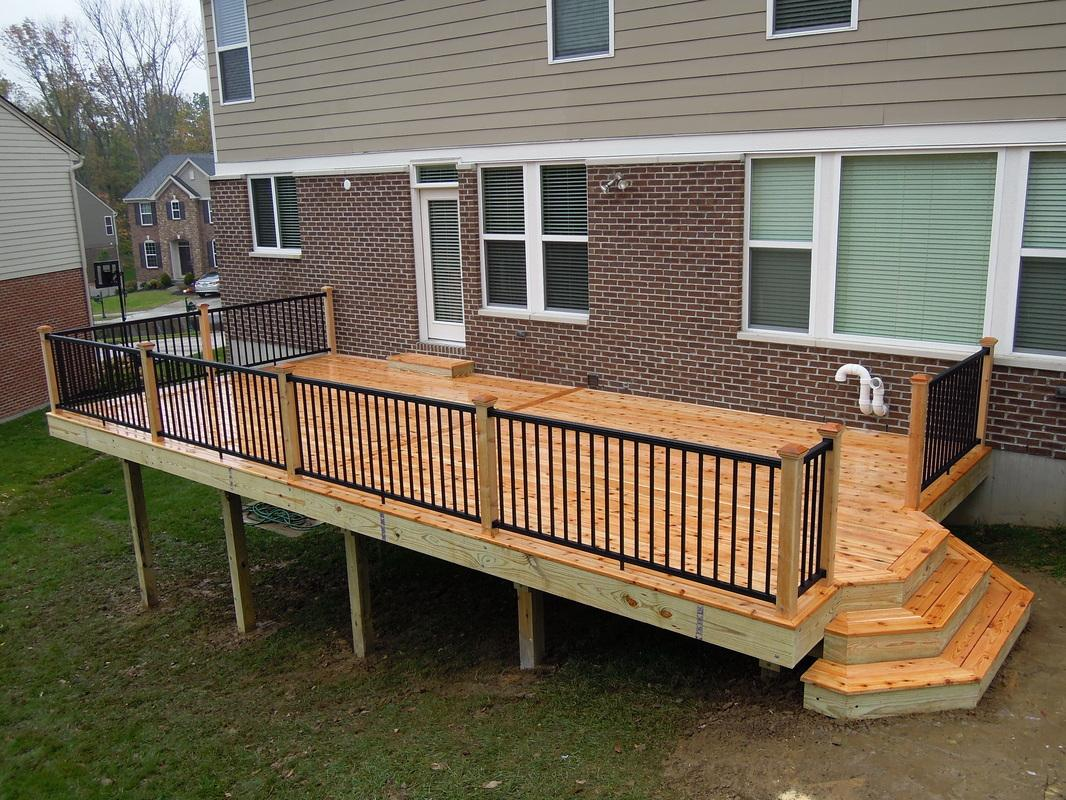 Image of: Aluminum Deck Railing Hardware
