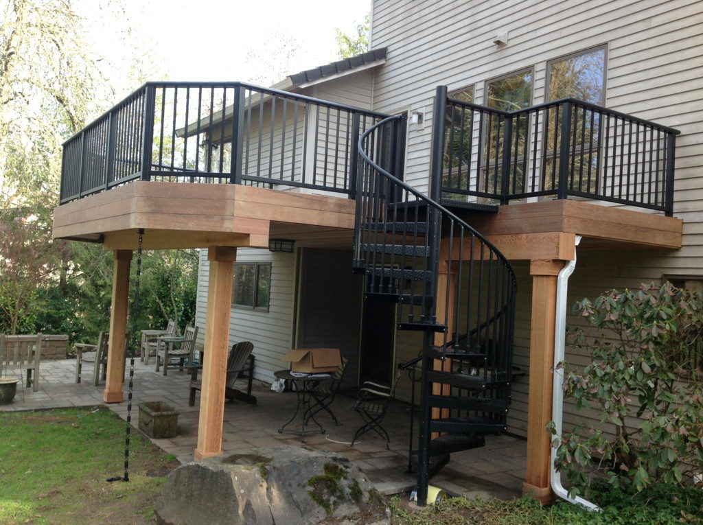 Image of: Aluminum Deck Railing Installation