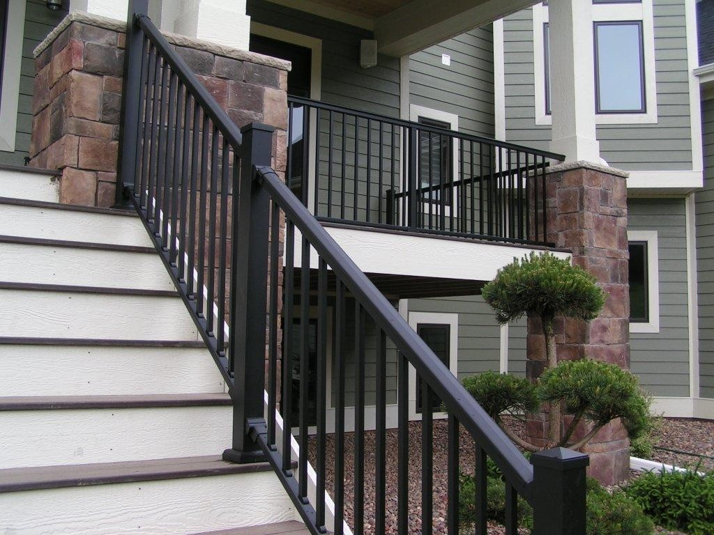Image of: Aluminum Deck Railing Kits