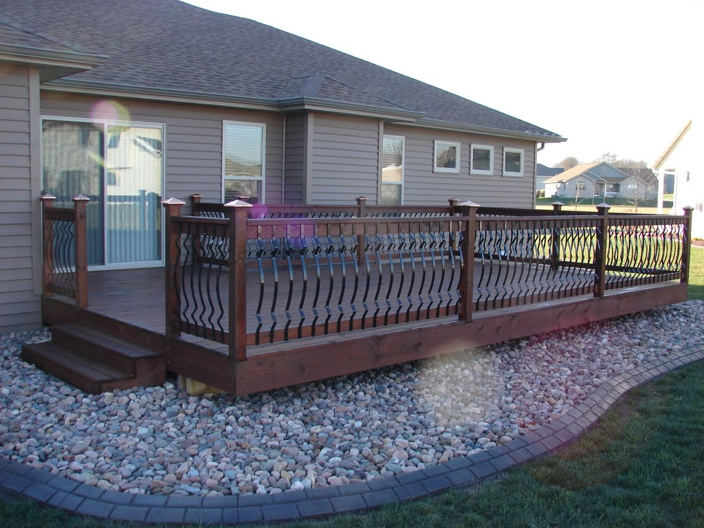 Image of: Aluminum Deck Spindles Home Depot