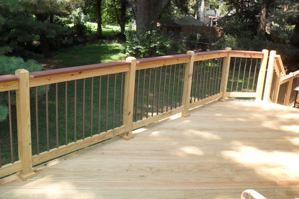 Image of: Aluminum Deck Spindles Wide