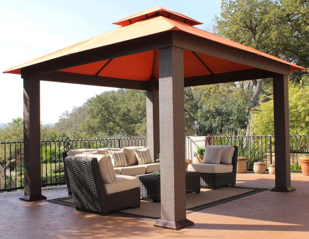 Image of: Aluminum Gazebo Kit