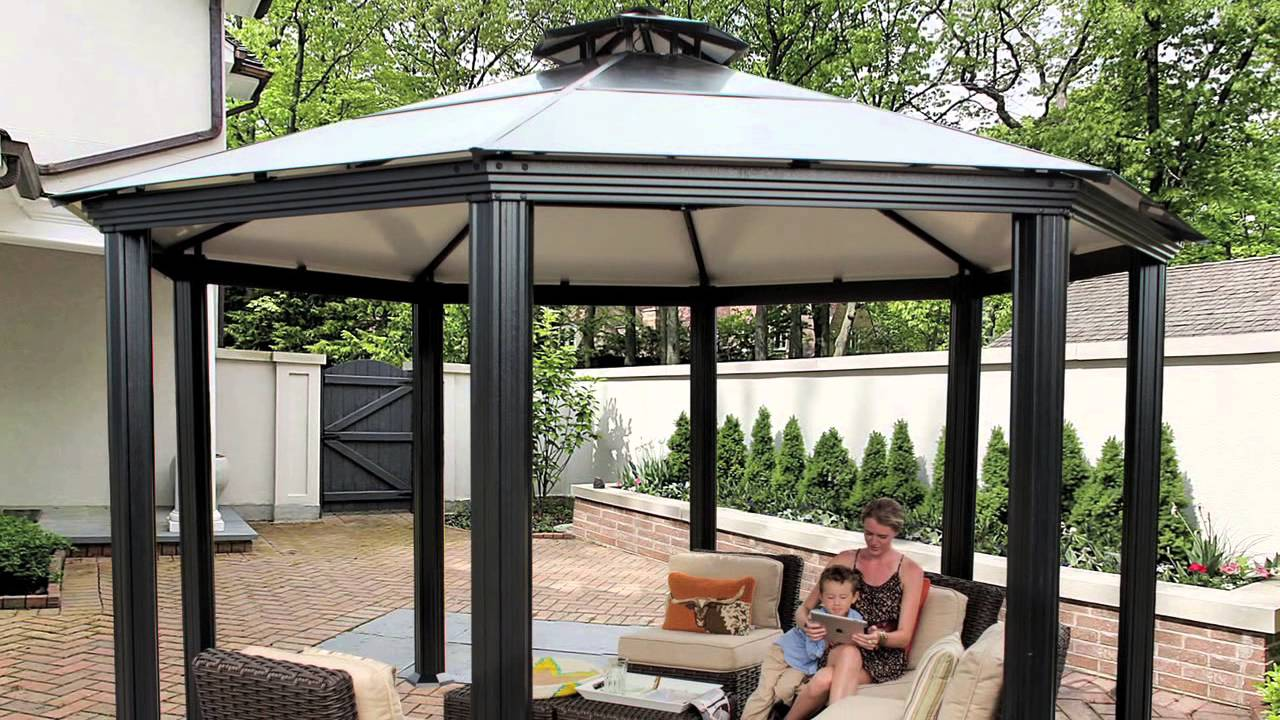 Image of: Aluminum Gazebo Roof