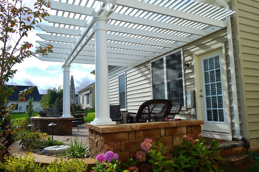 Image of: Aluminum Pergola Kits Design Ideas
