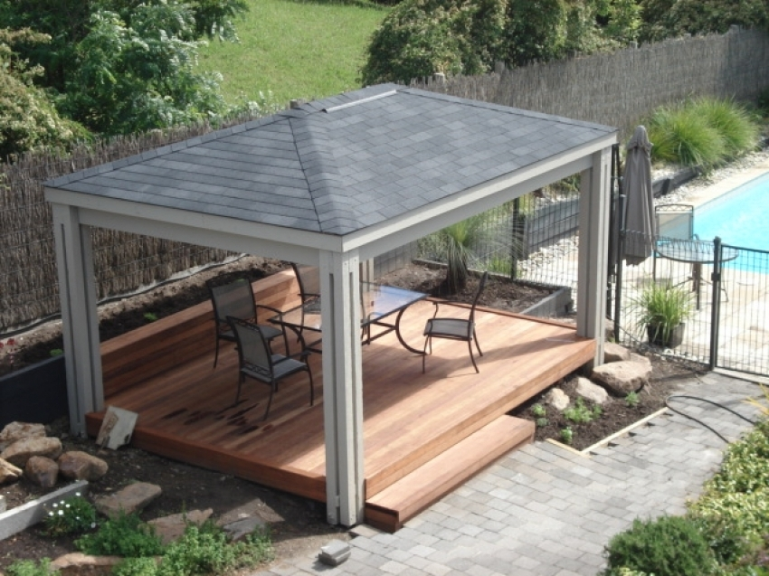Image of: Aluminum Pergola Kits Ideas