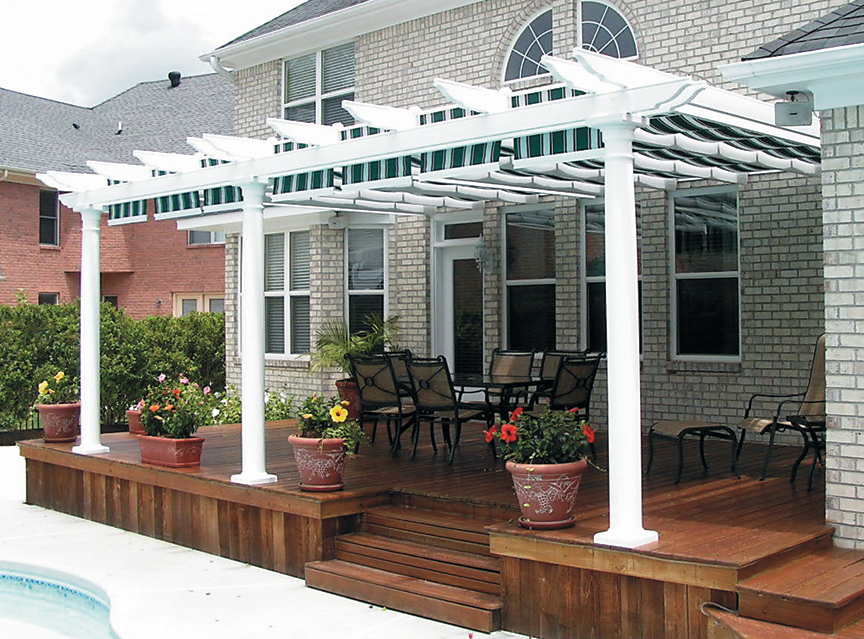 Image of: Amazing Attached Pergola Kits