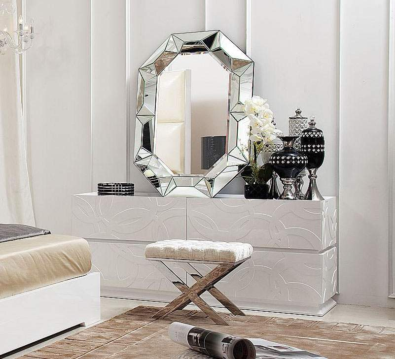 Image of: Amazing Modern Dresser with Mirror