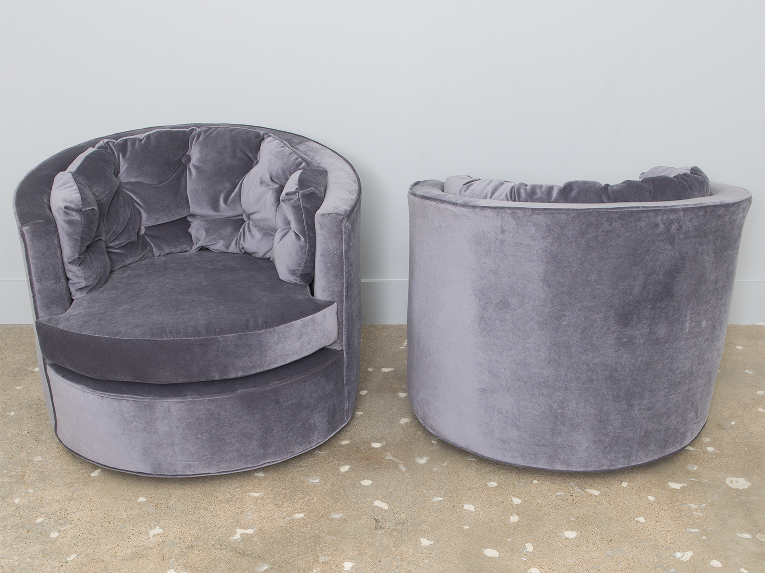 Image of: amazing swivel barrel chair