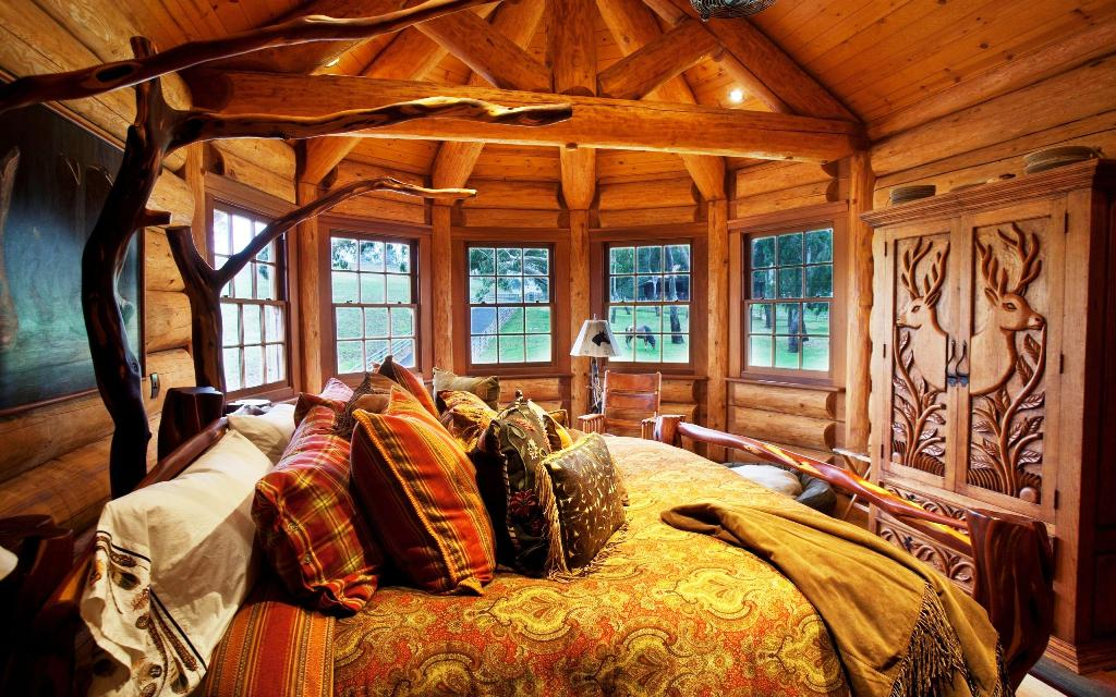 Image of: Angreeable Rustic Cabin Bedrooms