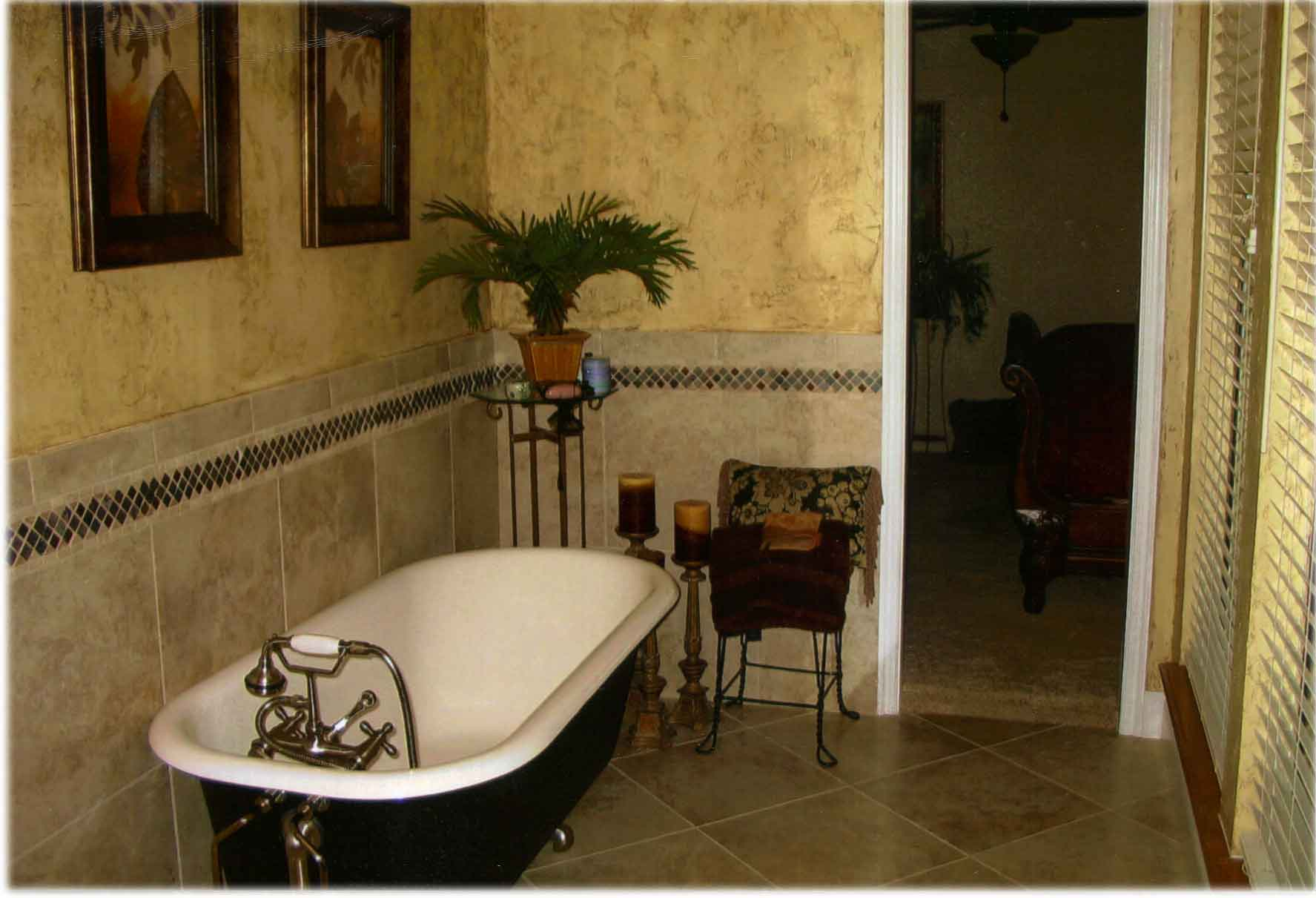 Image of: antique clawfoot tub shower design