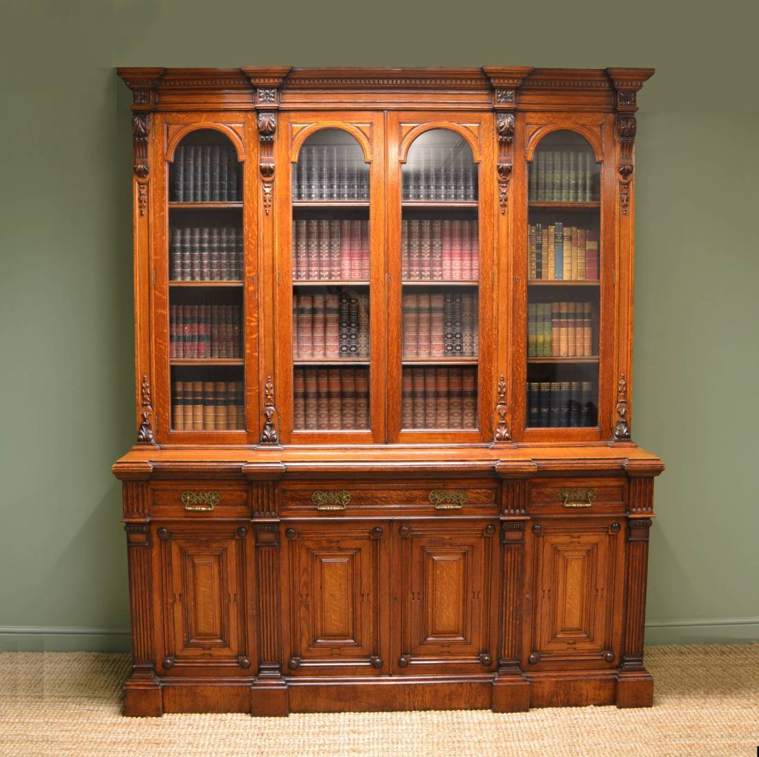 Image of: Antique Library Bookcase