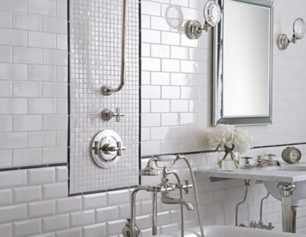 Image of: Antique Mirror Wall Tiles