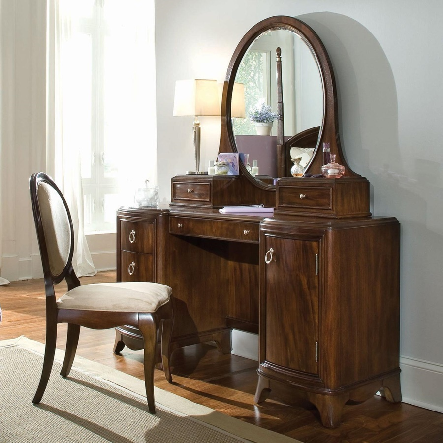 Image of: Antique Mirrored Vanity Table