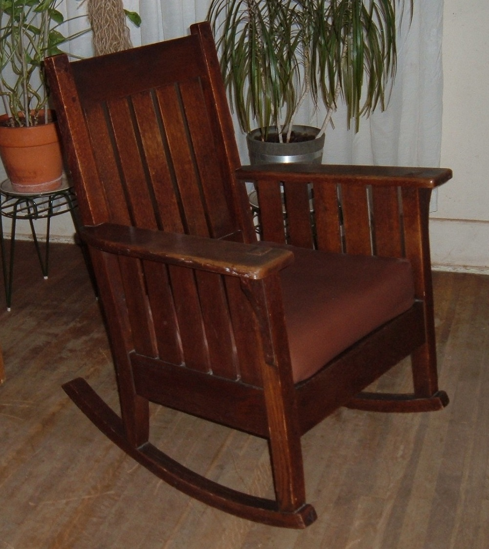 Antique Mission Style Rocking Chair