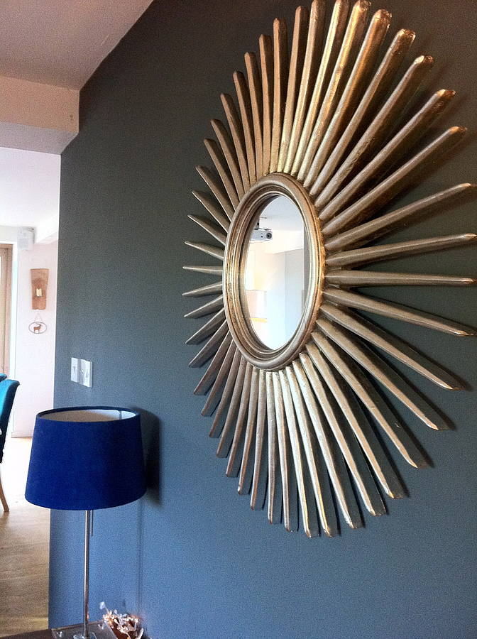 Image of: Antique Sunburst Wall Mirror