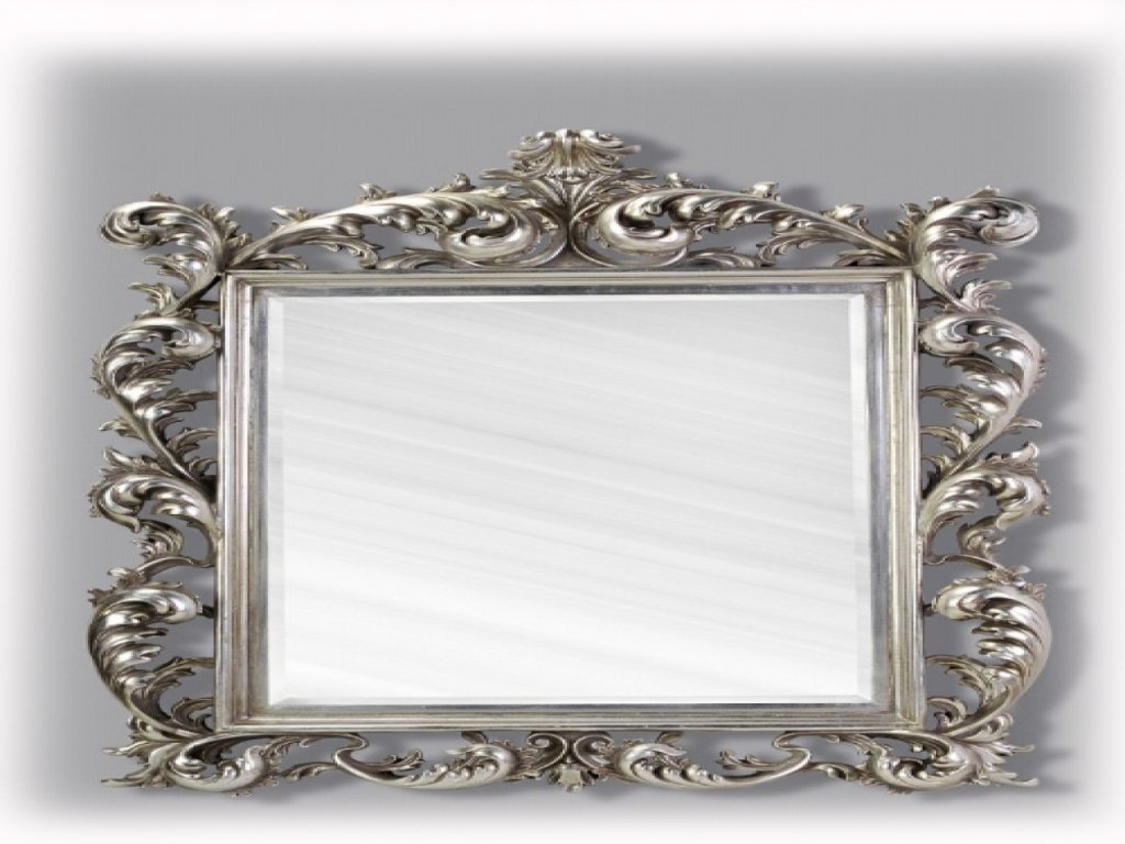 Image of: Antique Wall Mirrors Silver