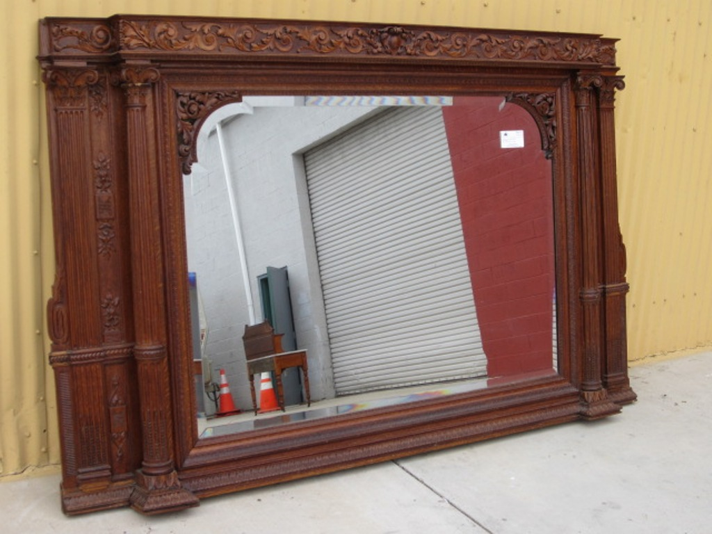 Image of: Antique Wall Mirrors with Shelf
