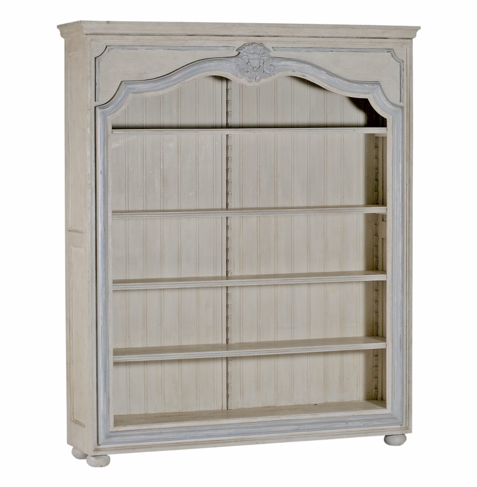 Image of: Antique White Bookcase Ideas