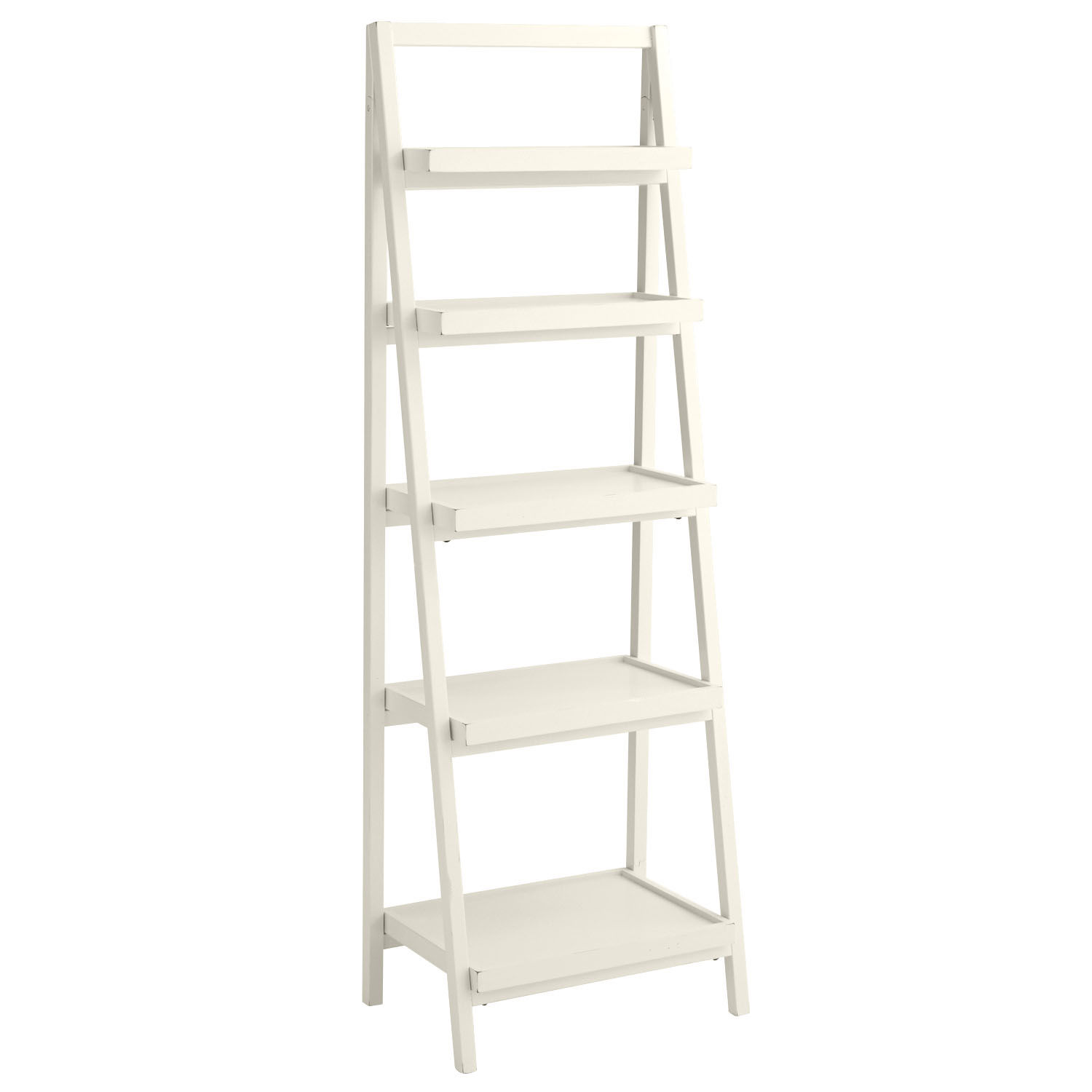 Image of: Antique White Bookcase Style