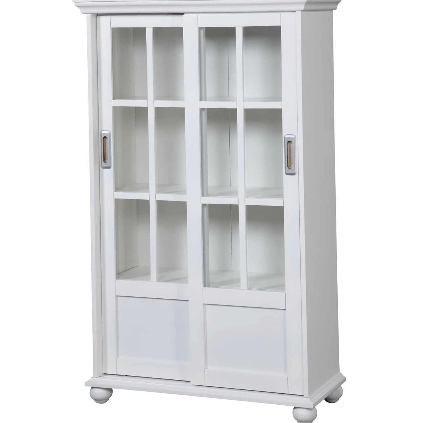 Image of: Antique White Bookcase with Glass Door