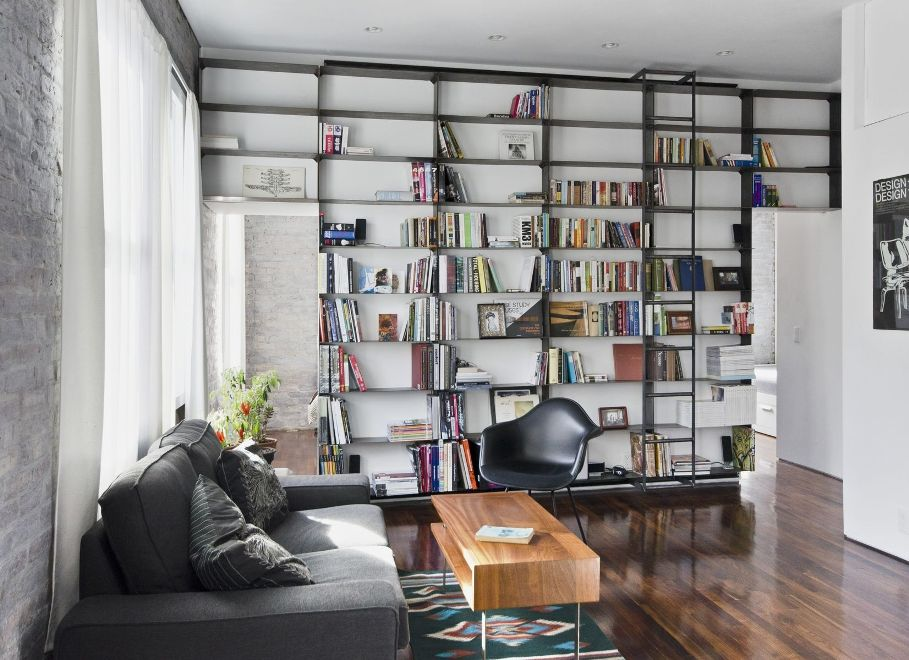 Image of: Arhaus bookcase with ladder
