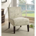 armless accent chairs size